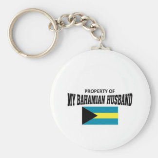 Property of my Bahamian Husband Key Ring
