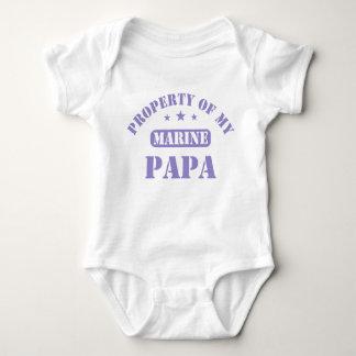 Property Of My Marine Papa Baby Bodysuit