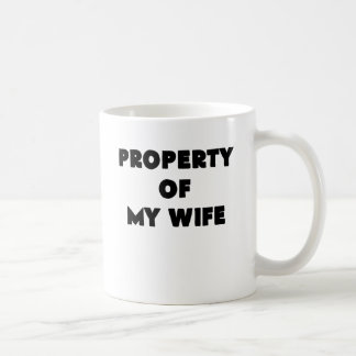property of my wife.png coffee mug