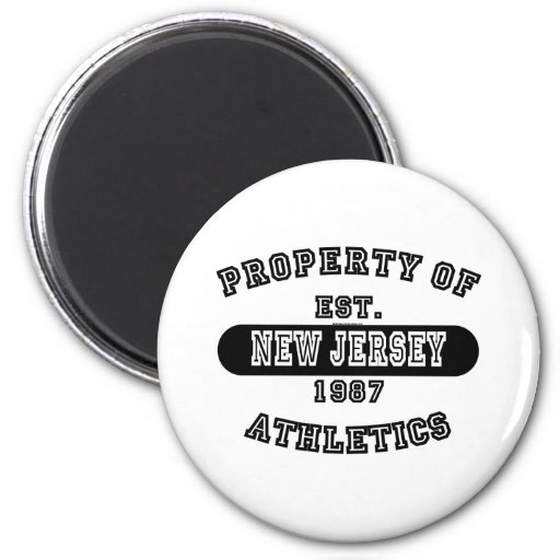Property of New Jersey shirts Fridge Magnet