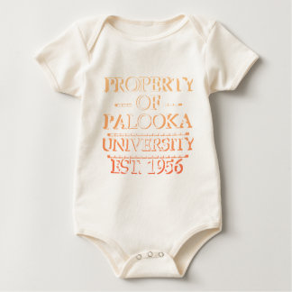 Property of Palooka University White w/ Orange Baby Bodysuit