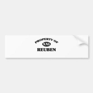 Property of REUBEN Bumper Sticker