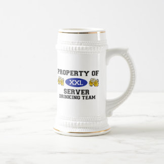 Property of Server Drinking Team Coffee Mugs