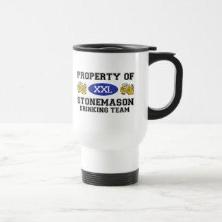 Property of Stonemason Drinking Team Mug