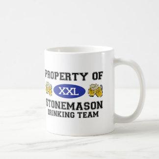 Property of Stonemason Drinking Team Coffee Mugs