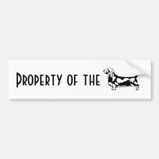 Property of the Basset Hound Bumper Sticker