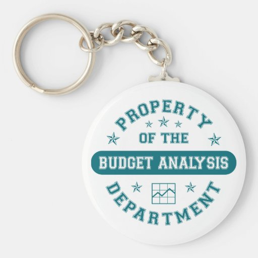 Property of the Budget Analysis Department Keychains