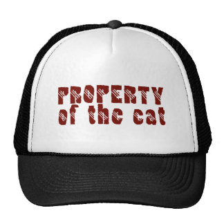 Property OF the cat Mesh Hats