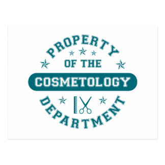 Property of the Cosmetology Department Postcard