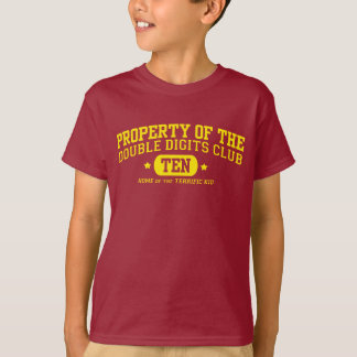 Property of the Double Digits Club 10th Birthday T-Shirt
