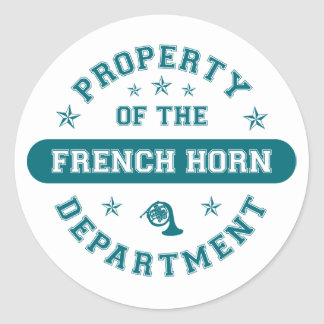 Property of the French Horn Department Classic Round Sticker