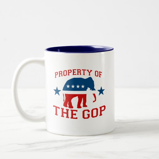 PROPERTY OF THE GOP COFFEE MUGS