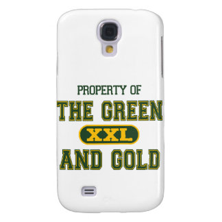 Property of The Green and Gold1 Samsung Galaxy S4 Covers
