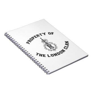 Property of the London Clan Spiral Notebook