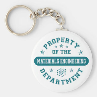 Property of the Materials Engineering Department Basic Round Button Key Ring