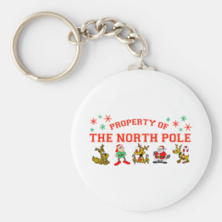 Property Of The North Pole Key Ring