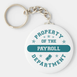 Property of the Payroll Department Basic Round Button Key Ring