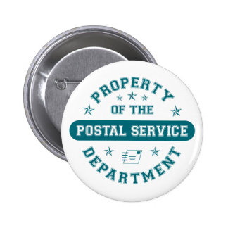 Property of the Postal Service Department Buttons