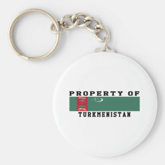 Property Of Turkmenistan Keychains