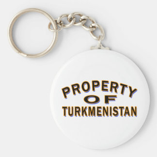 Property Of Turkmenistan Key Chain
