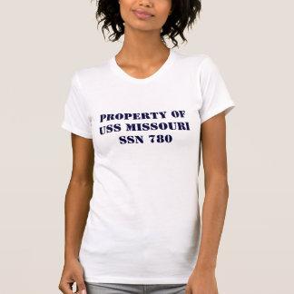 PROPERTY OF USS MISSOURI Ladie's T T-Shirt