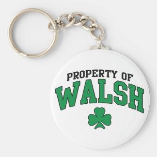 Property of Walsh Shamrock Keychains