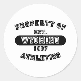 Property of Wyoming shirts Round Sticker
