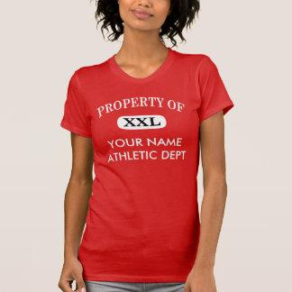 Property of XXL Your Name Women's Dark T-Shirt