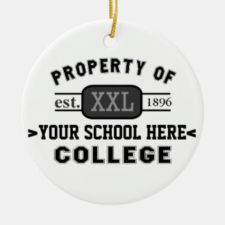 Property of Your School or College Personalized Ornament