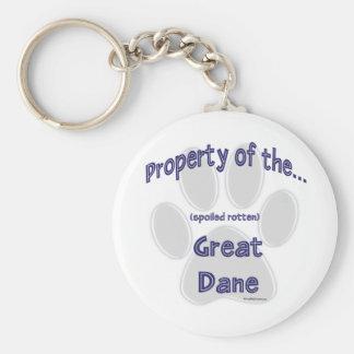 Property Spoiled Rotten Great Dane Keychain