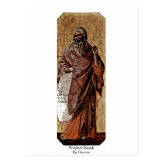Prophet Isaiah By Duccio Postcard