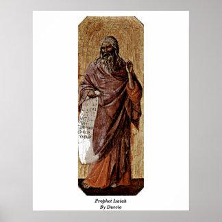 Prophet Isaiah By Duccio Poster