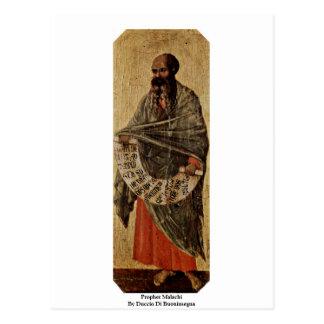 Prophet Malachi By Duccio Di Buoninsegna Postcard