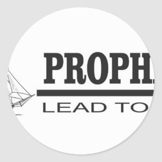 prophets lead to god round sticker