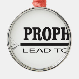 prophets lead to god Silver-Colored round decoration