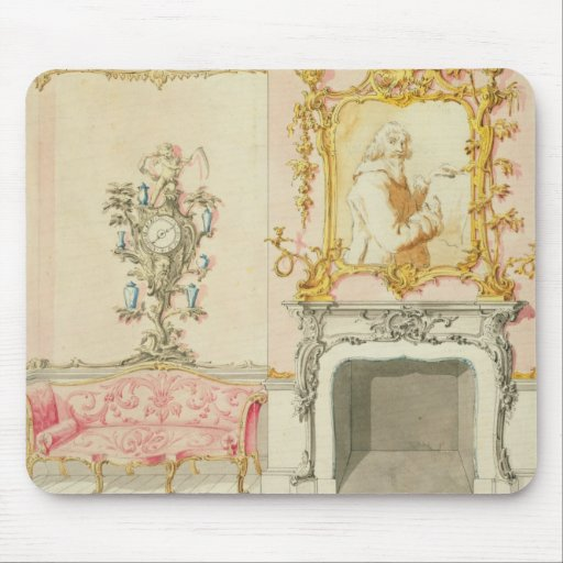 Proposal for a drawing room interior, 1755-60 (w/c mouse pads