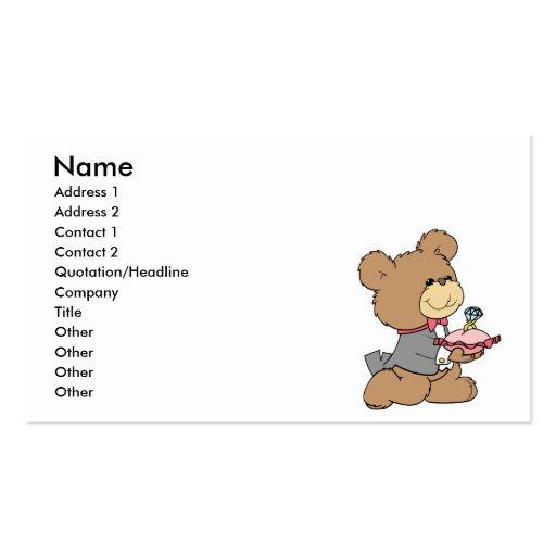 proposal or ring bearer teddy bear design pack of standard business cards