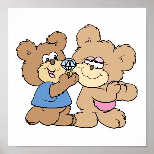 proposal wedding bears poster