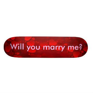 Proposal - Will you marry me Skateboard Decks