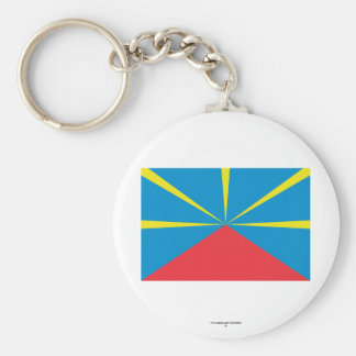 Proposed Reunion Island Flag Basic Round Button Key Ring
