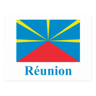Proposed Reunion Island Flag with Name in French Post Cards