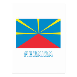 Proposed Reunion Island Flag with Name Postcard