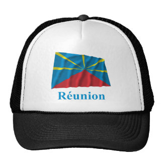 Proposed Reunion Island Waving Flag Name in French Cap