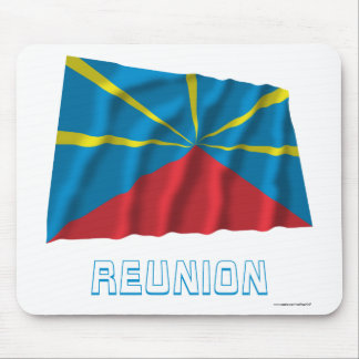 Proposed Reunion Island Waving Flag with Name Mouse Pad