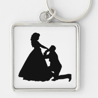 PROPOSING Silver-Colored SQUARE KEY RING