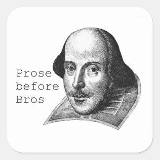Prose before Bros Sticker