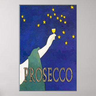 Prosecco, Wine Glass Stars Poster