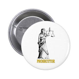 PROSECUTOR 6 CM ROUND BADGE