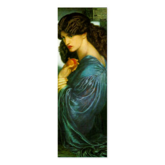 Proserpine Bookmark by Dante Gabriel Rossetti Pack Of Skinny Business Cards