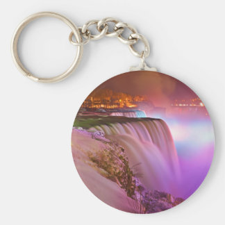 Prospect Point Night View of Niagara Falls Winter Key Ring